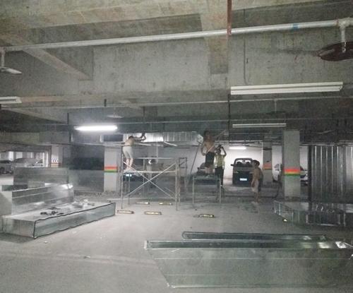 地下停车场通风管道安装