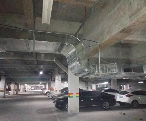 地下车库通风排烟管道